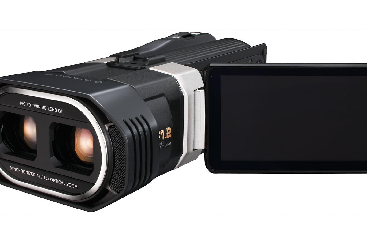 JVC has announced a new 3D full HD consumer camcorder which benefits from two independent lenses, two CMOS sensors and a new imaging engine