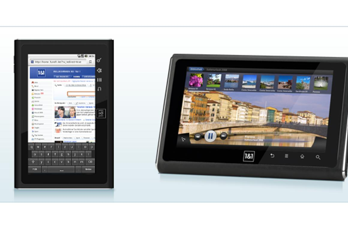 1&1 Germany has unveiled its very own Android tablet computer, the SmartPad