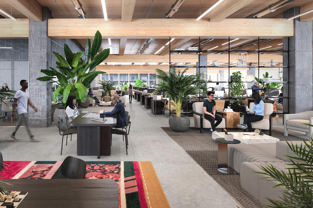 Burrard Exchange's interior will be mostly occupied by office space, though there will also be retail areas on the lower floors