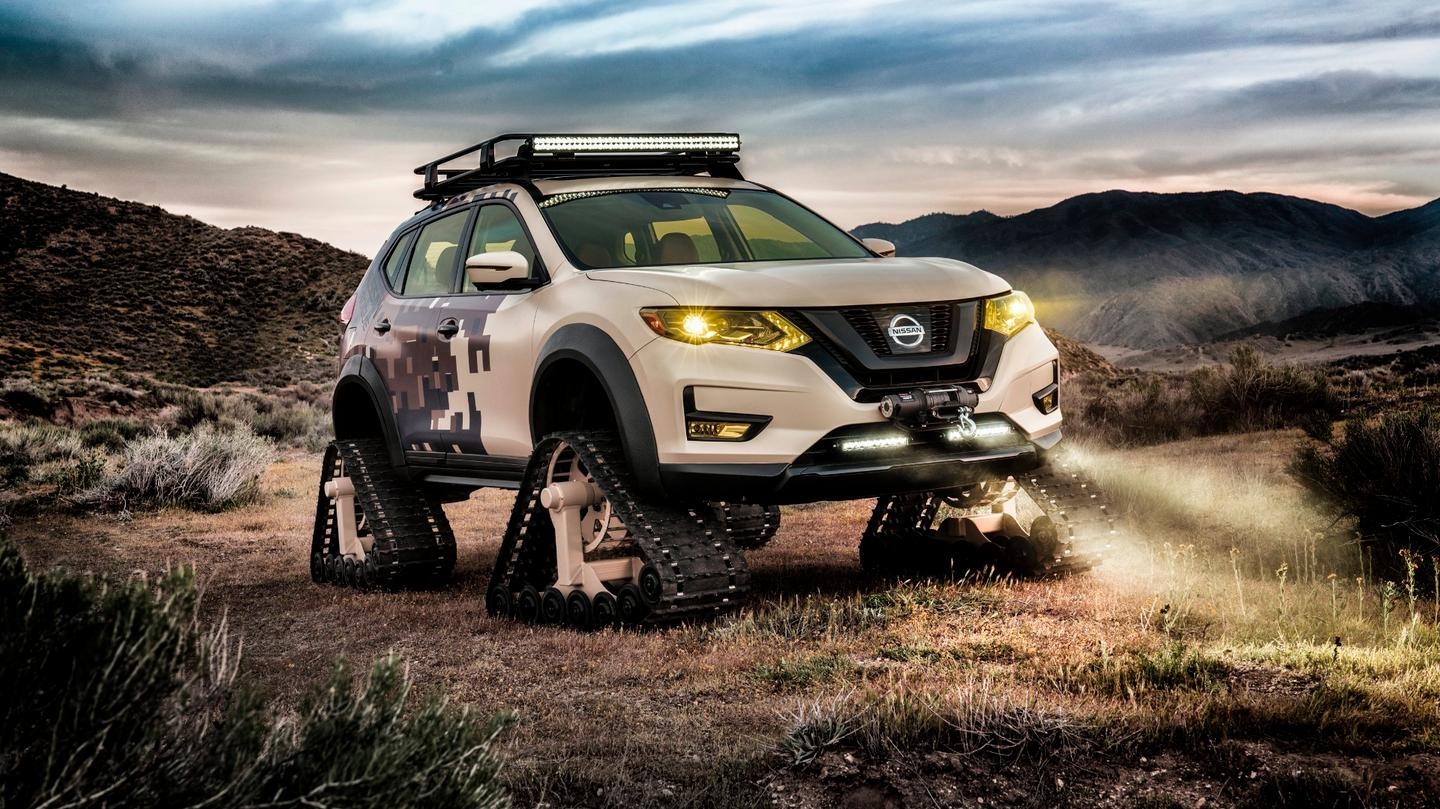 Nissan shows that tracks aren't just for cold and snow