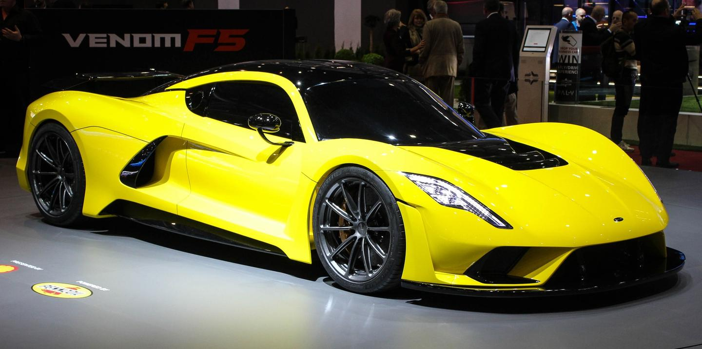 The Hennessey Venom F5 shows its face in Europe
