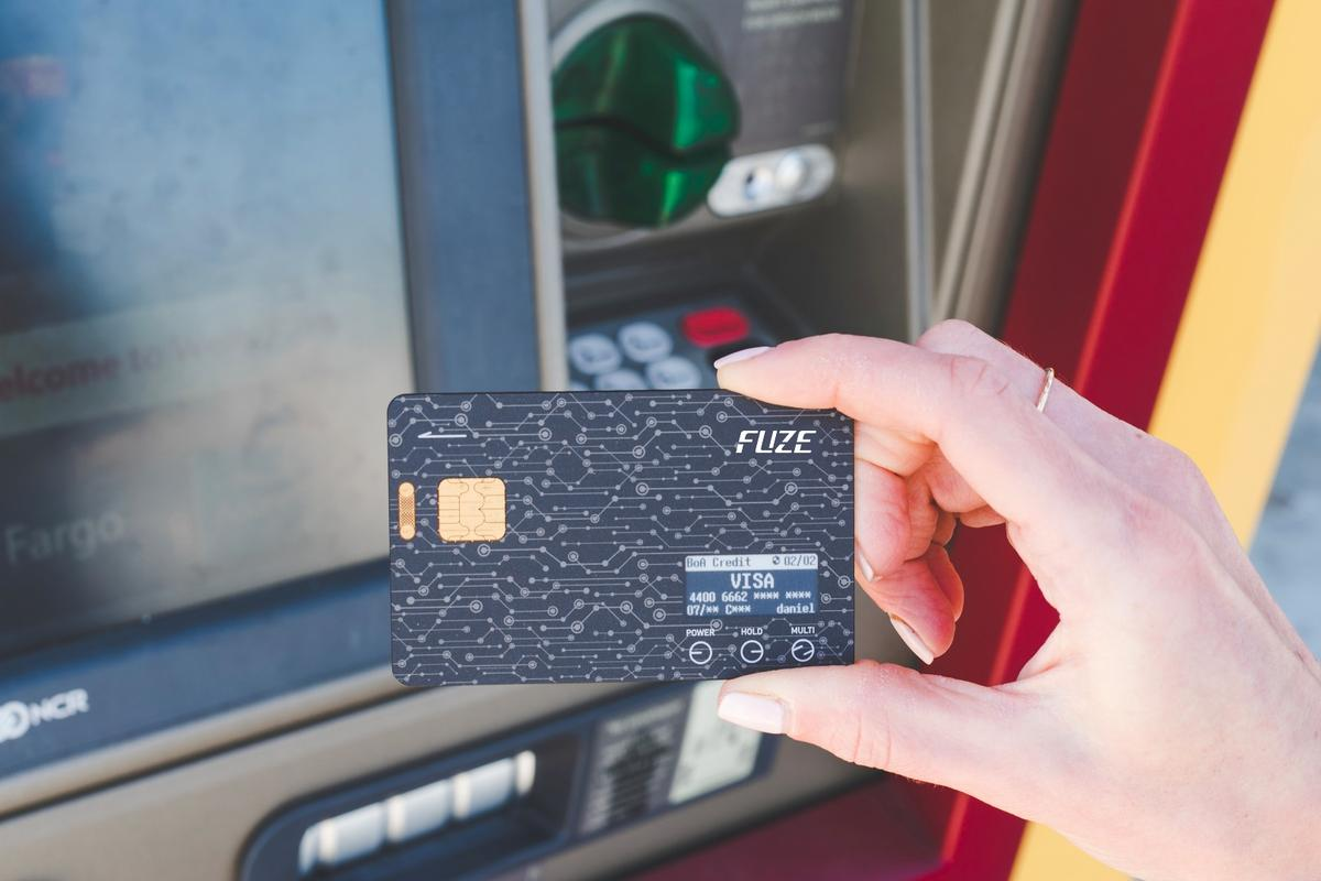The Fuze Card can digitally store up to 30 other cards on its internal memory