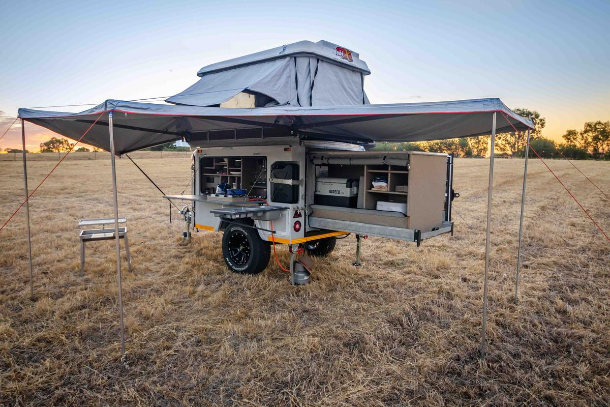 The Mobi X sets up into a roomy, well-equipped base camp for two to six people
