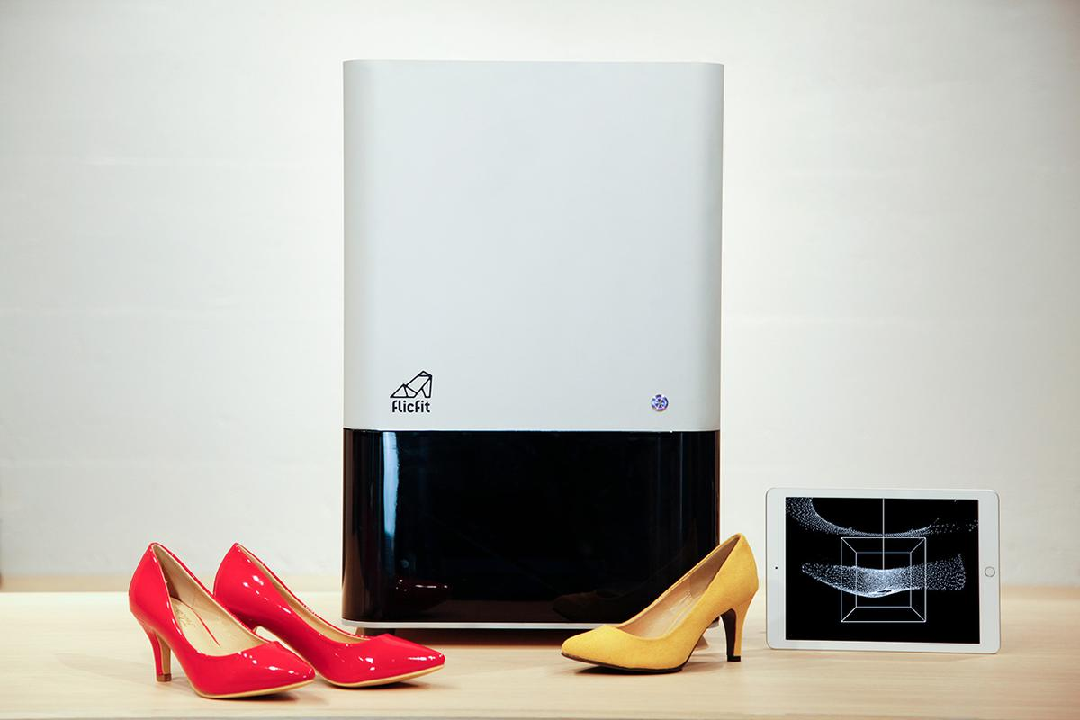 The Shoe Digitizer, which is used to obtain 3D scans of the inner dimensions of footwear