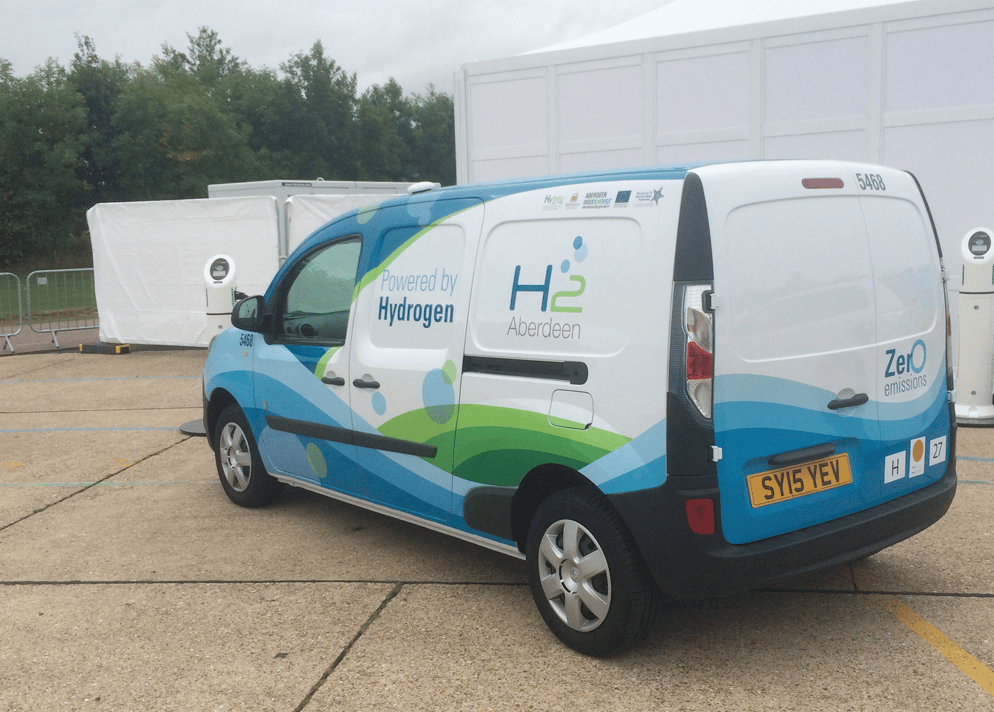 Apart from the Toyota Mirai, the only other hydrogen fuel cell vehicles in the field were the three battery-electric Renault Kangoo vans, using fuel cell range extenders from Symbio Fcell. Though the Kangoos didn't feature at the front of the field, they did finish the event.