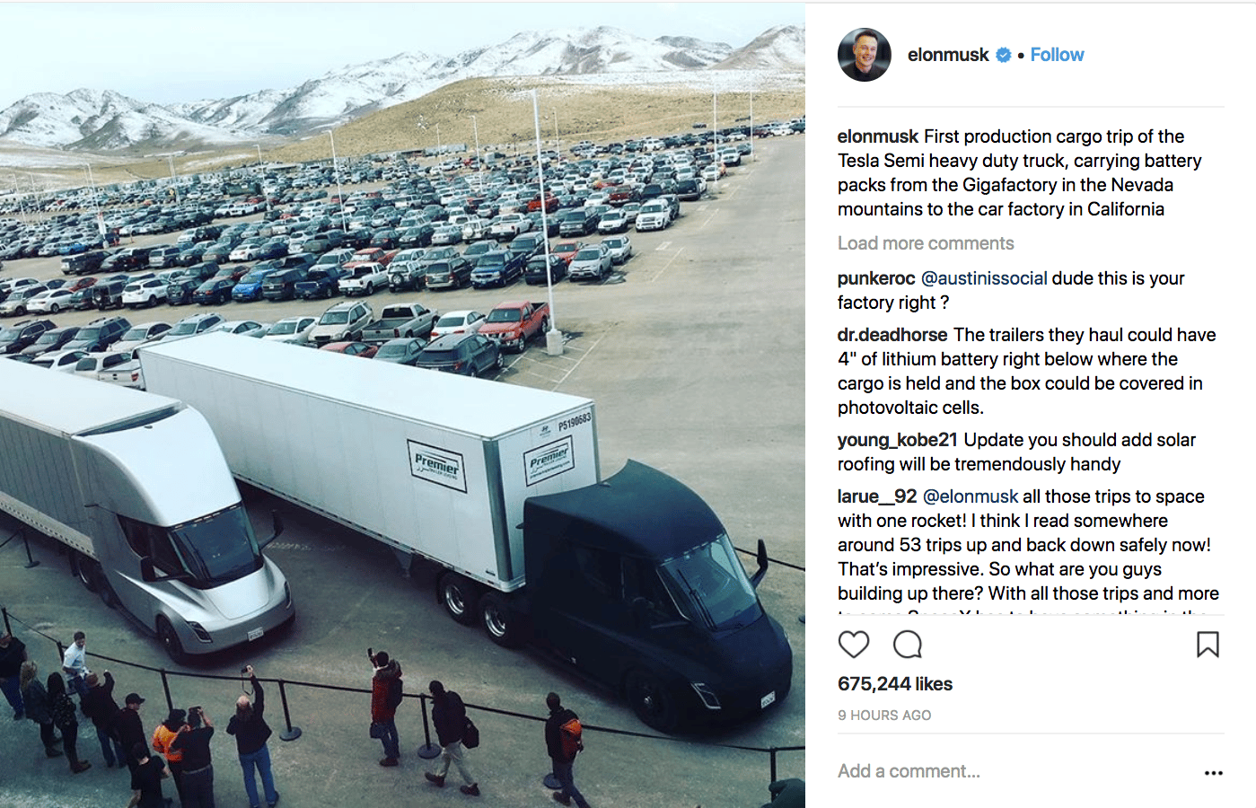 Elon Musk on Instagram