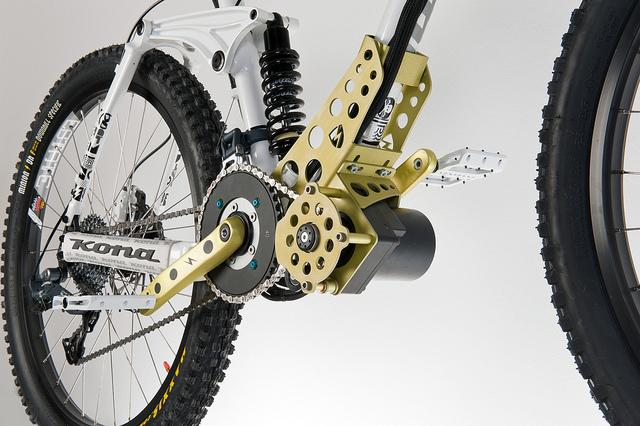 The EGO-Kit is an electric motor that can be added to downhill mountain bikes for powering them up to the tops of mountains (Photo: EGO-Kits)