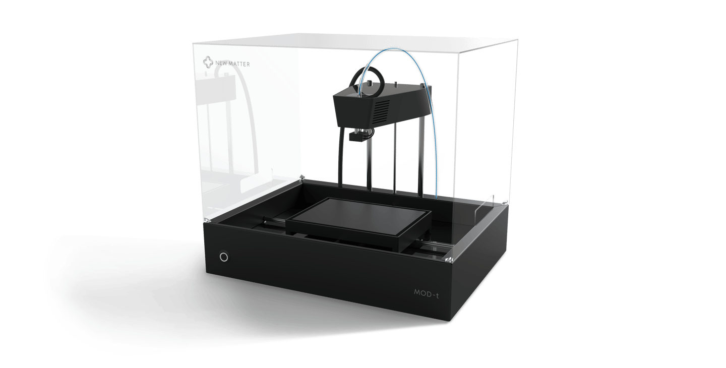 The MOD-t features custom electronics and a two-axis motion system that supports the build platform during printing, while moving it at the same time