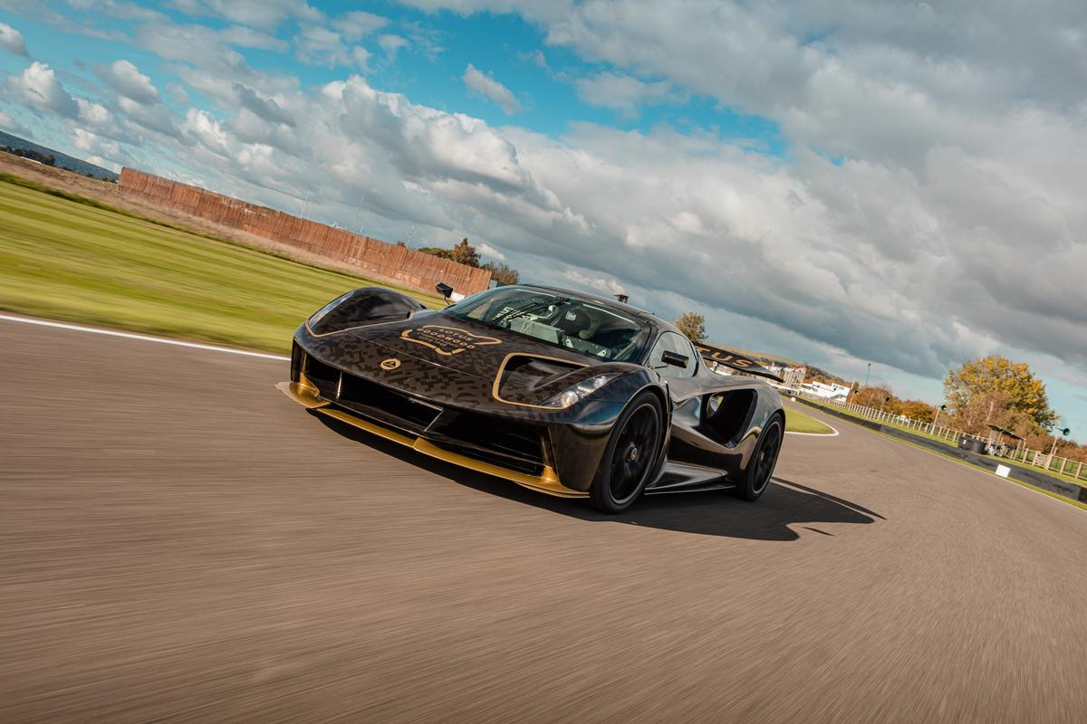 In all, three pre-production Lotus Evija models are at Goodwood for the SpeedWeek festival