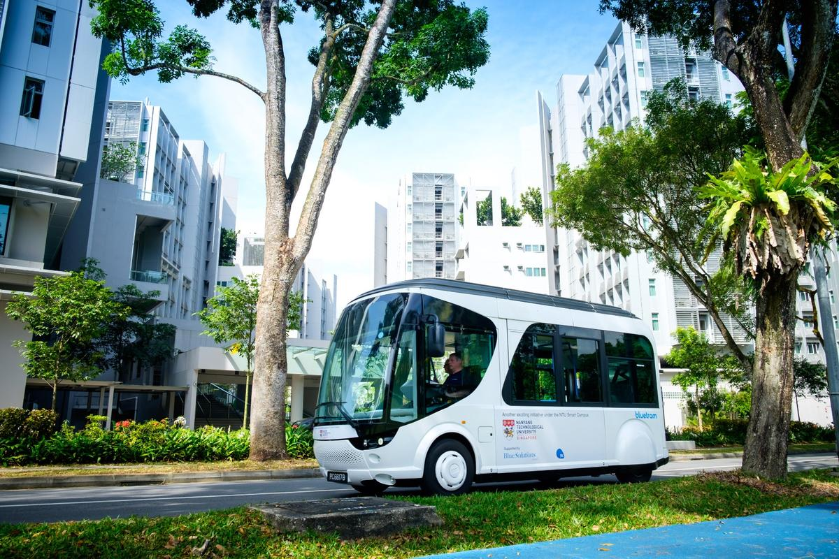 The shuttle will be used on the NTU campus for two years