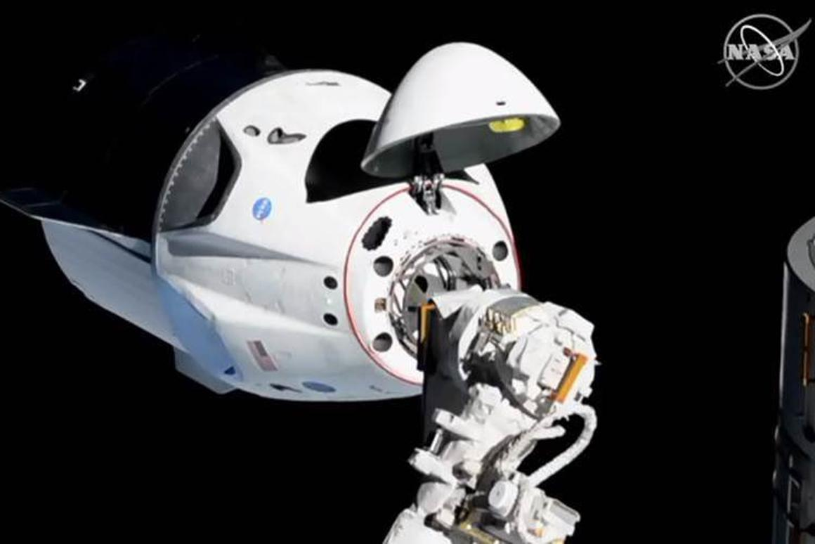 SpaceX's Crew Dragon docks itself with the ISS in March