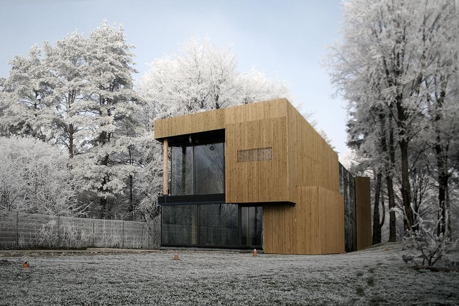 Passive House Che is a sustainable house situated in Suceava, Romania
