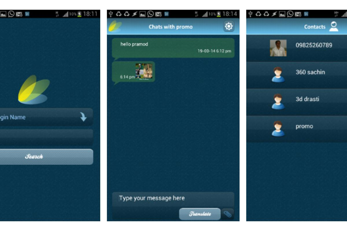 Globr is an instant messaging app that allows speakers of different languages to chat