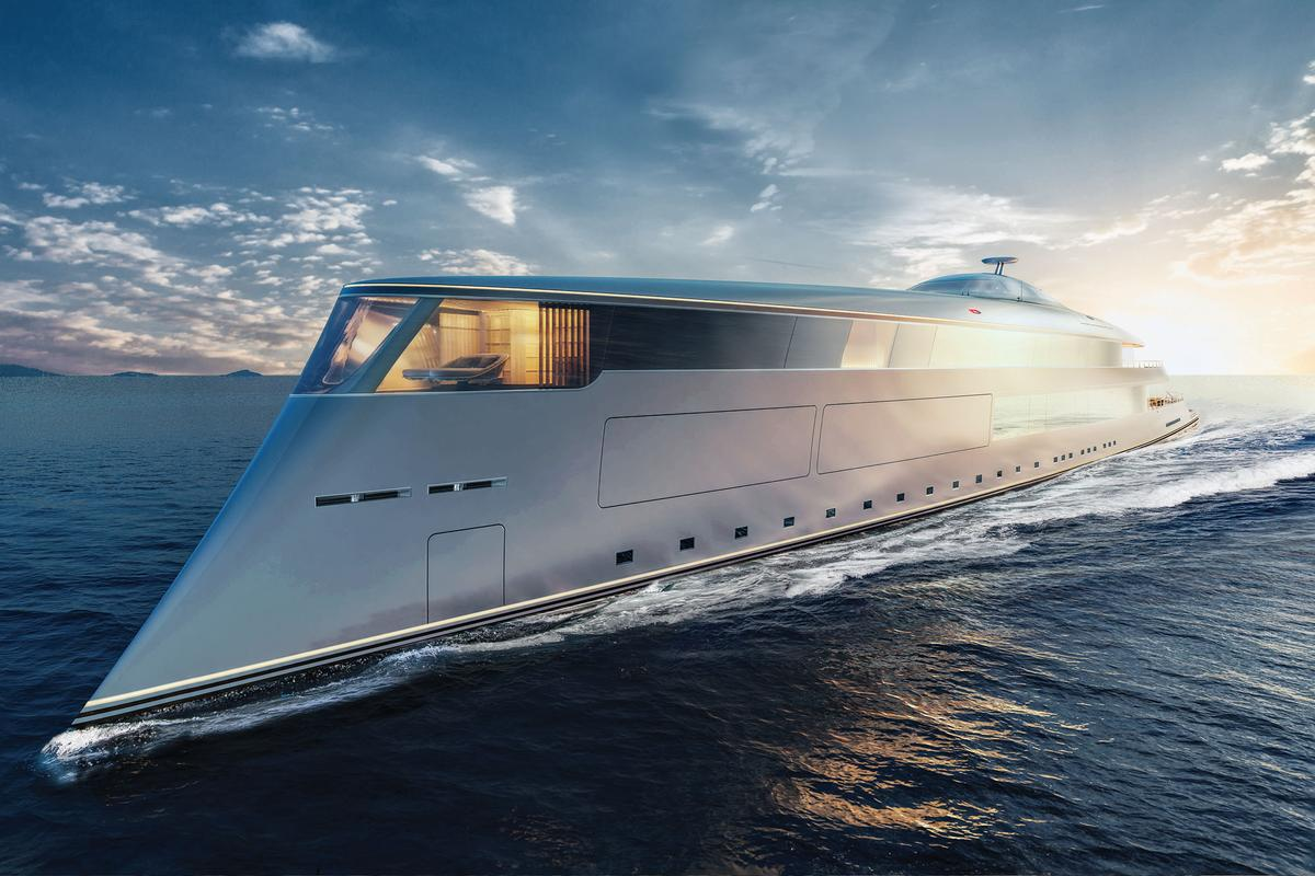 Sinot's hydrogen-powered Aqua superyacht is an extraordinary design