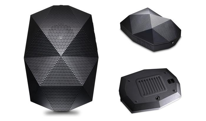 The Turtle Shell syncs wirelessly with a device up to 30 feet away