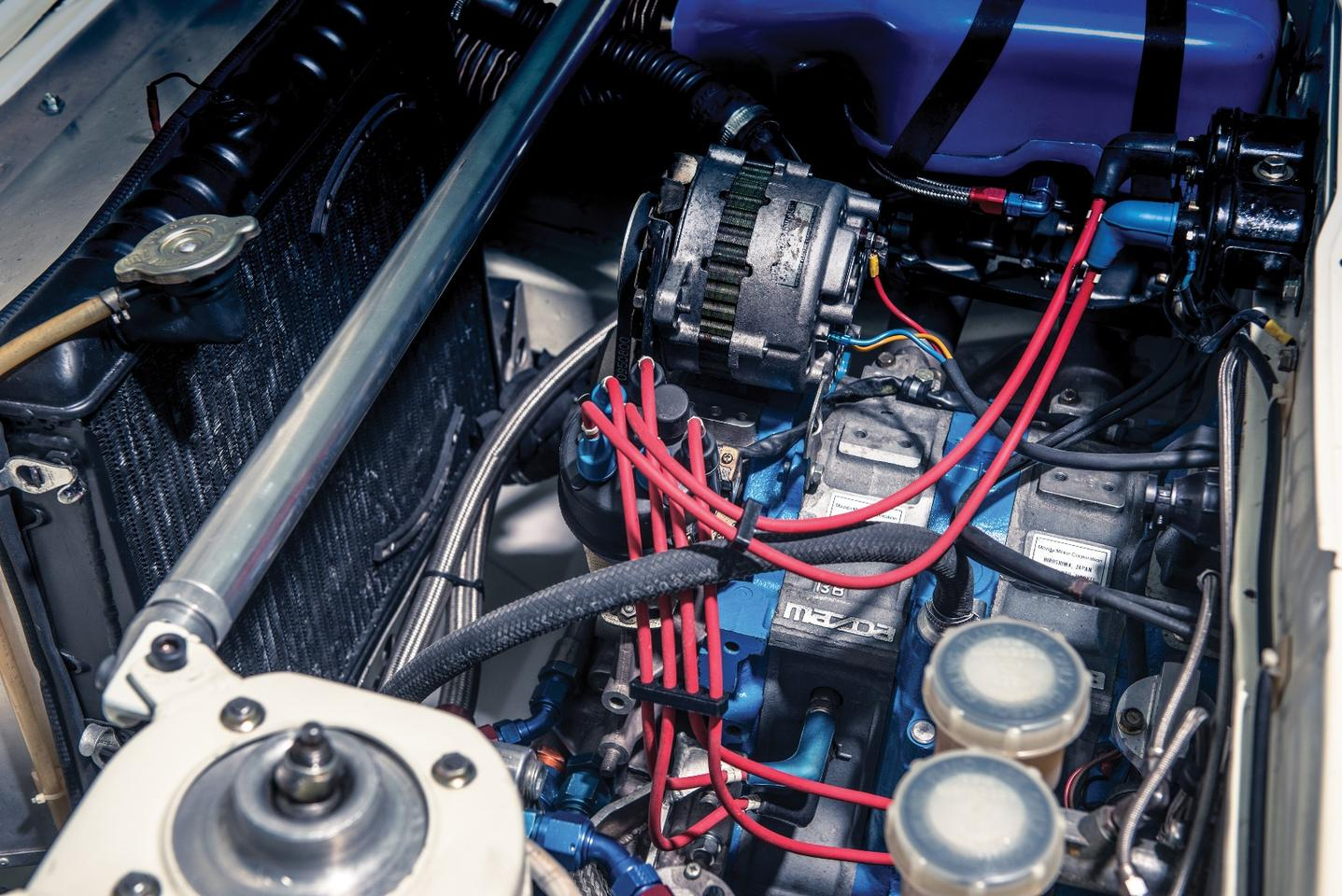 Under the hood of the Mazda RX-7 Evo Group B Works