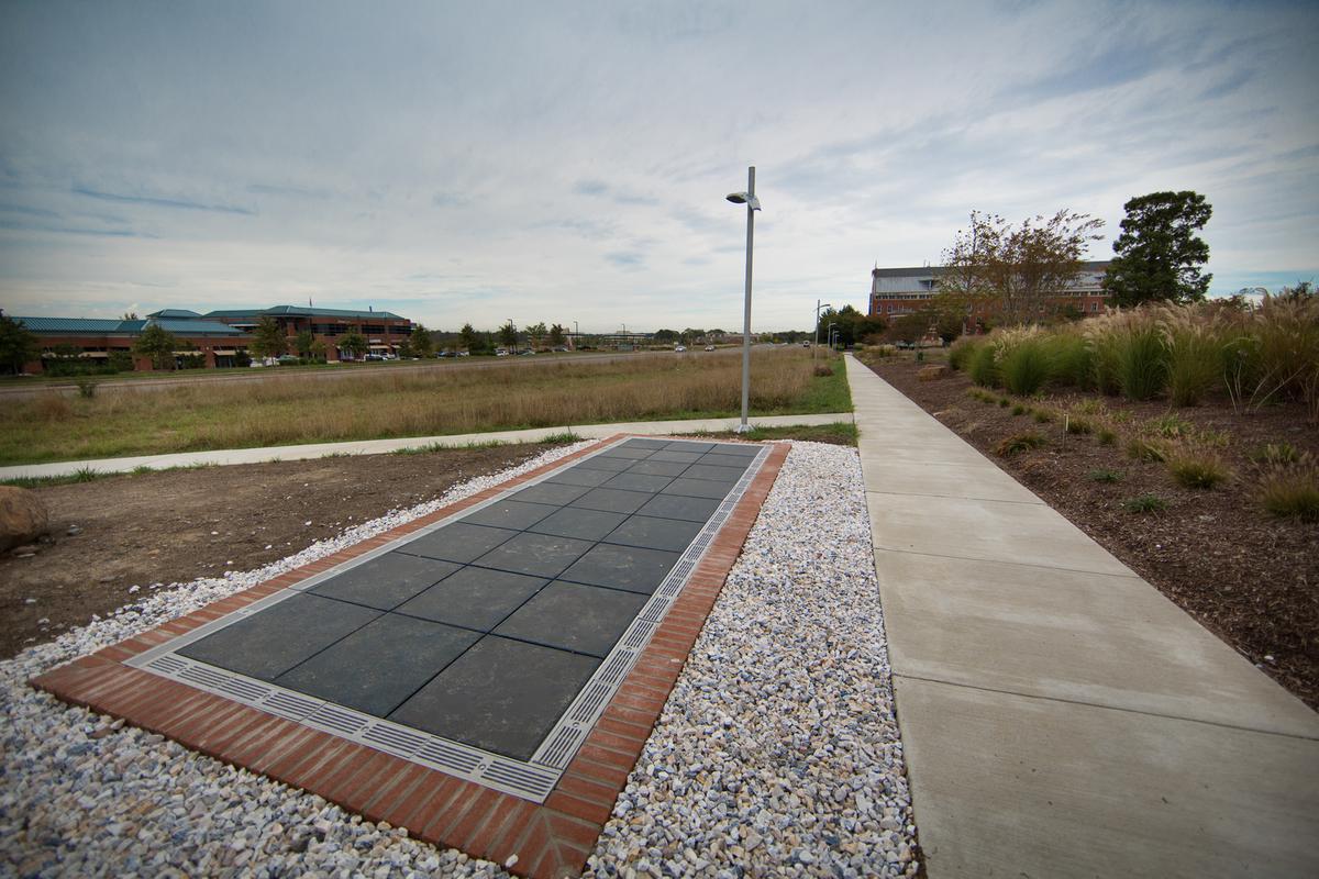 The university's first-of-its-kind Solar Walk (Photo: The George Washington University)