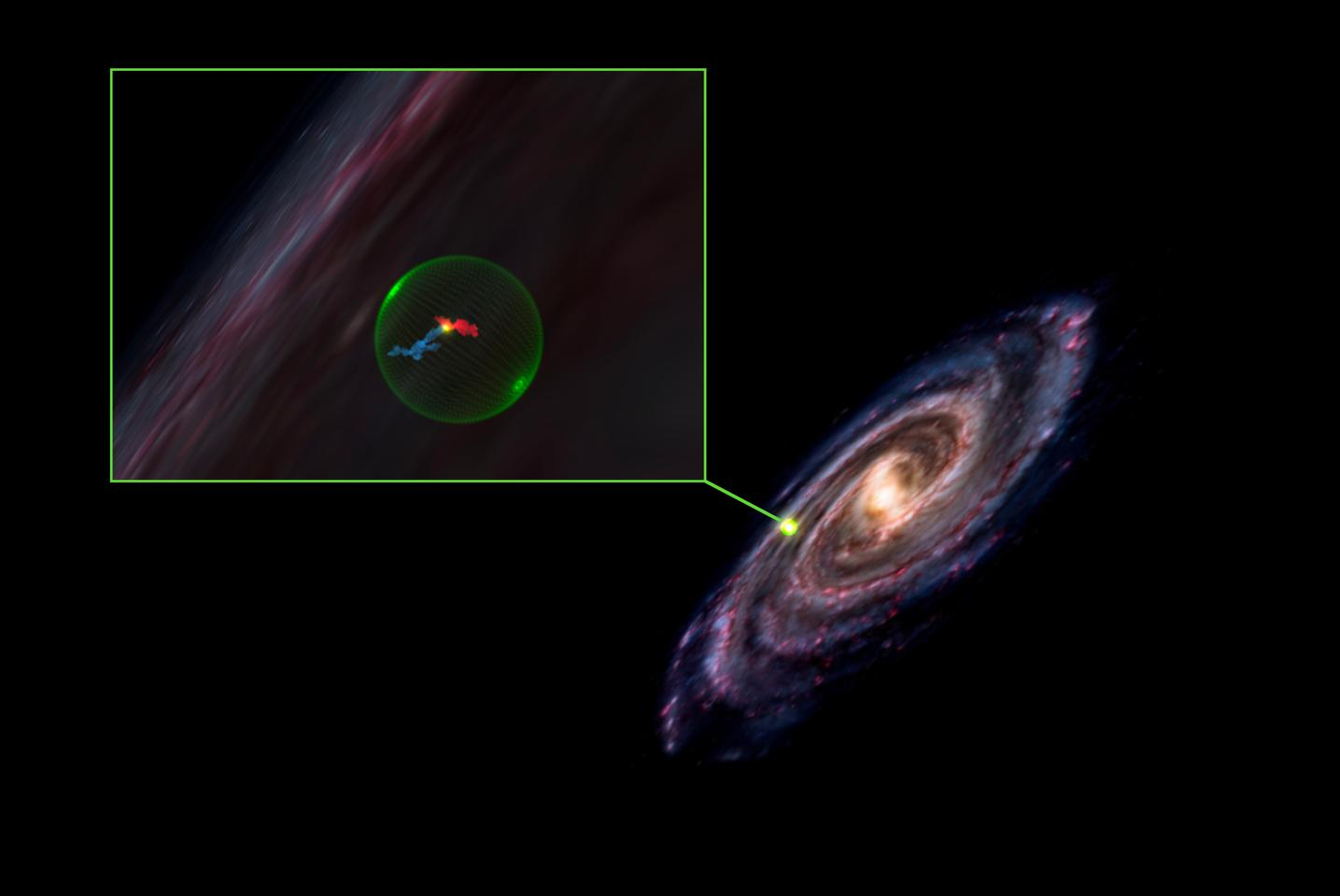 The location of a gigantic void in the Milky Way