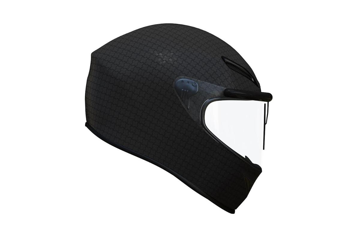 The Rainpal is designed to keep your helmet visor clear of water