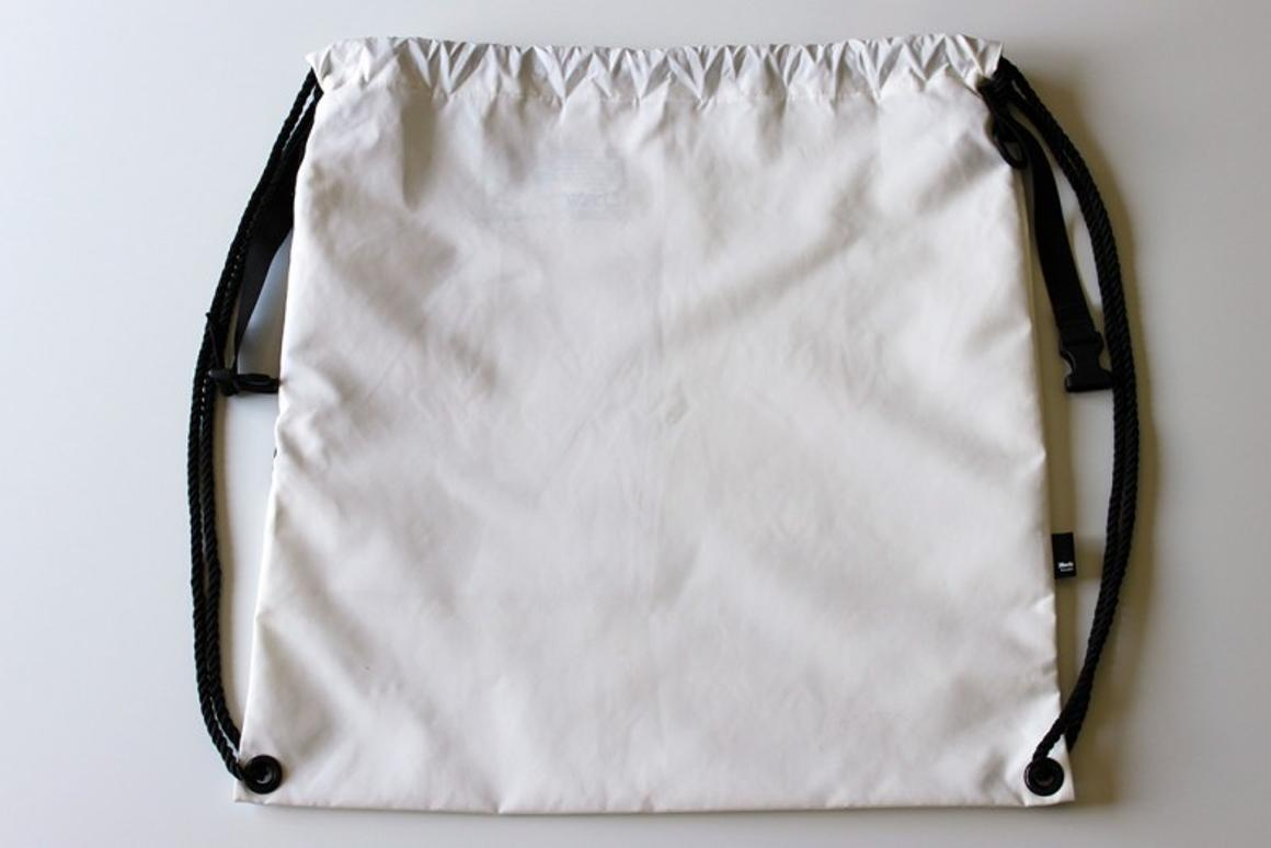 The mochibag is a new take on the tried and true drawstring backpack