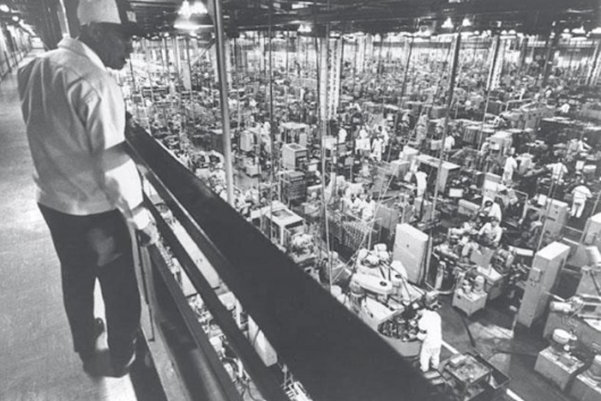 The Suzuka factory in 1971 - just 13 years after the first factory was built.