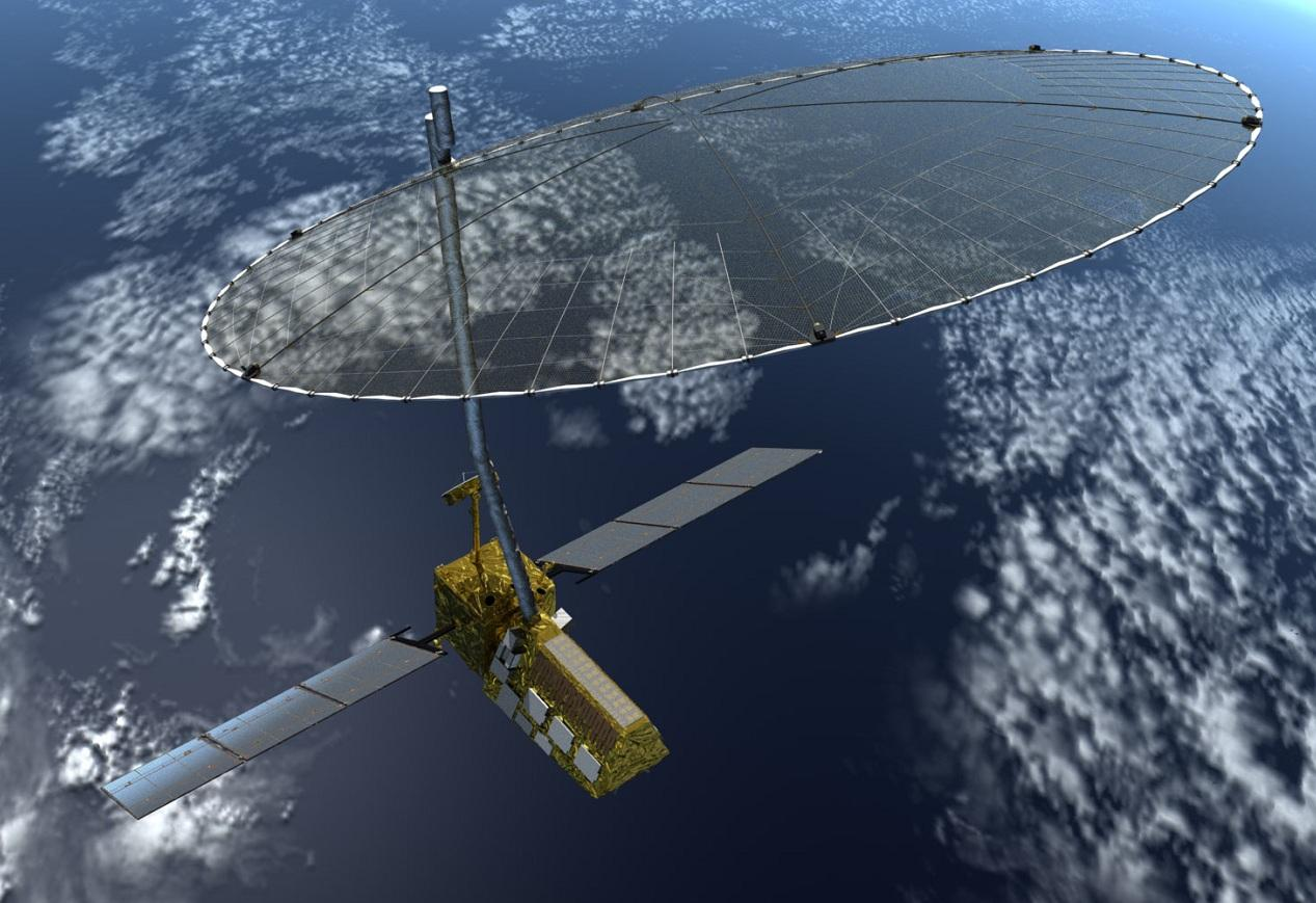 Artist's concept of the NASA-ISRO Synthetic Aperture Radar (NISAR) mission (Image: NASA)