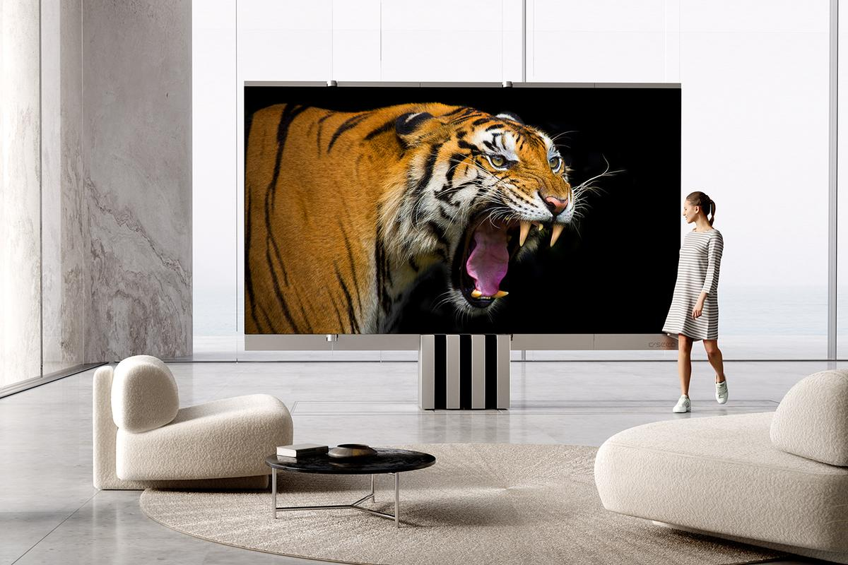 The C Seed M1 MicroLED 4K television will be available from Q3 2021
