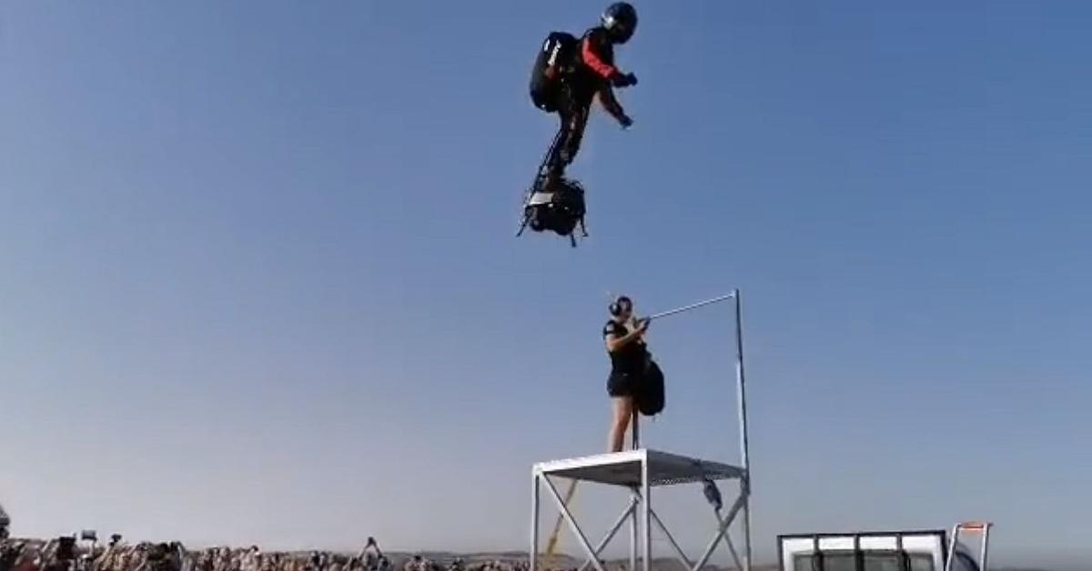 Franky Zapata takes off on the Flyboard Air for an attempted crossing of the English Channel
