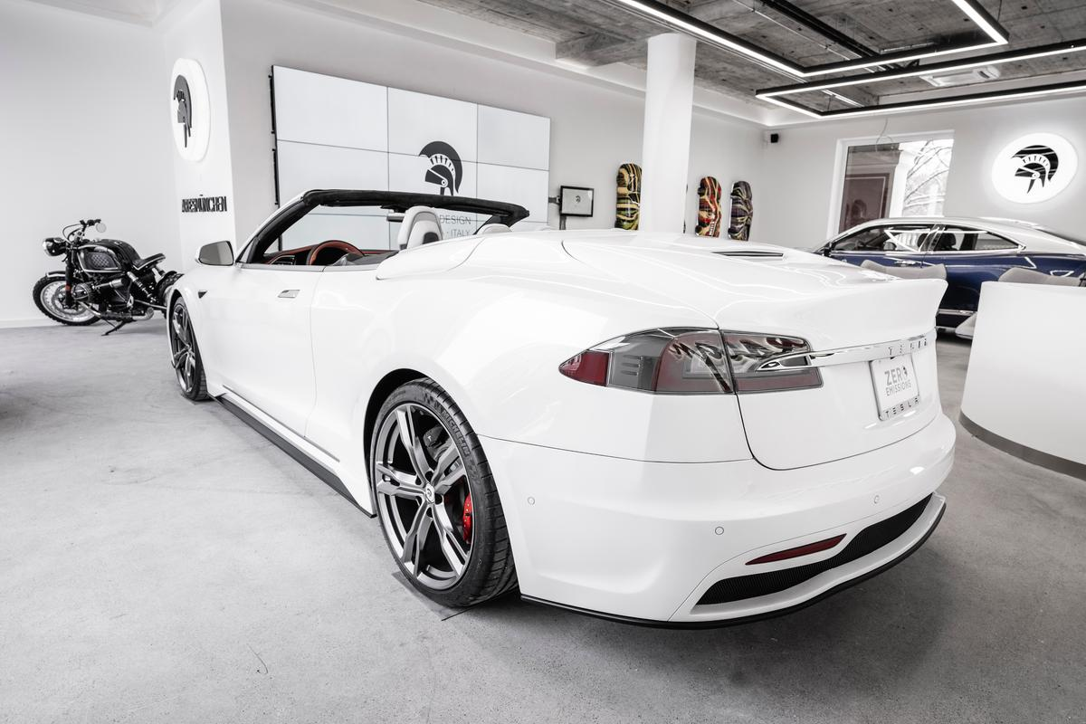 Ares Design creates a one-off Tesla Model S two-door convertible