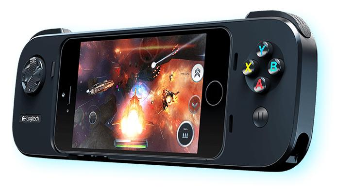 Logitech's PowerShell Controller + Battery brings conventional games controls and extended battery life to iPhone and iPod touch