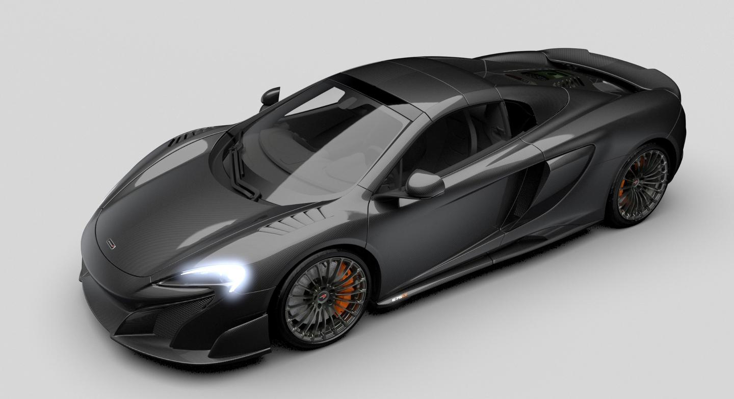 The MSO Carbon Series LT has the same 3.8-l twin turbo V8 powertrain as the Spider and Coupé versions
