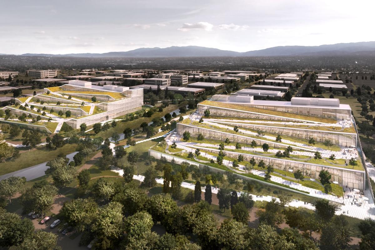 Google's new Caribbean campus in Sunnyvale, California, is slated for LEED Gold building standard