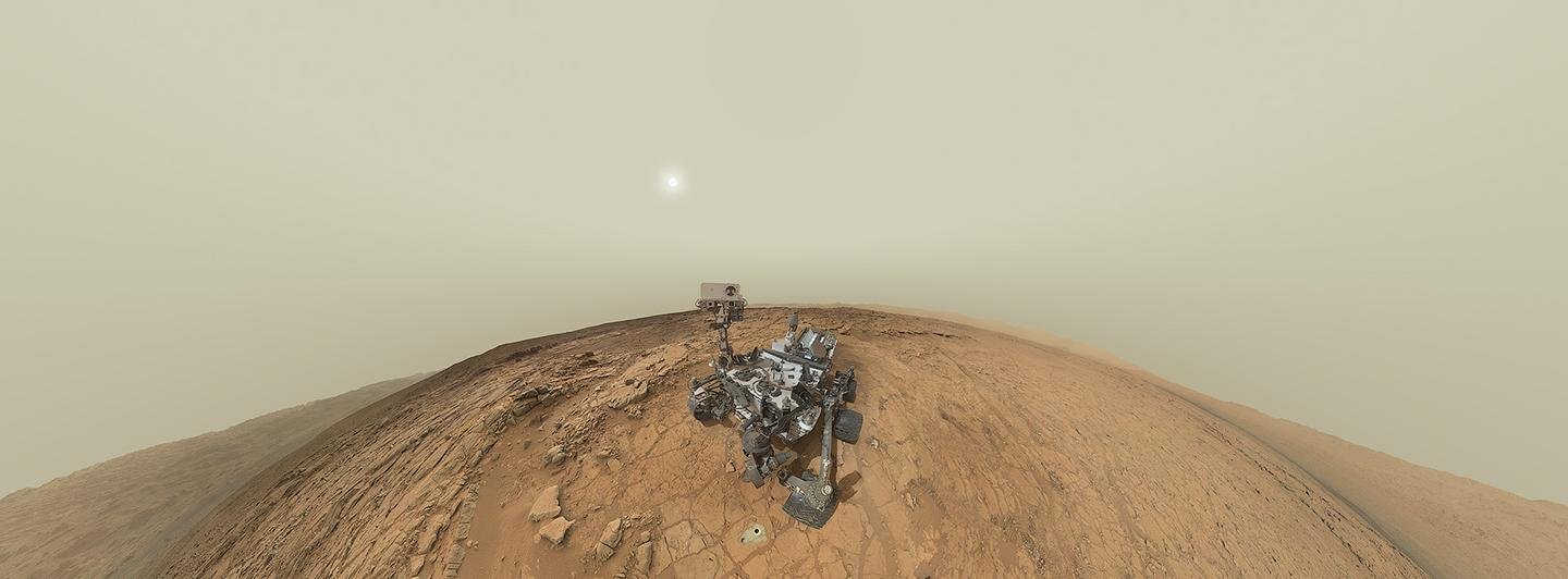 The panoramic selfie made up of 130 images captured by Curiosity's MAHLI and Mastcam (Image: NASA, JPL-Caltech, MSSS - Panorama by Andrew Bodrov)