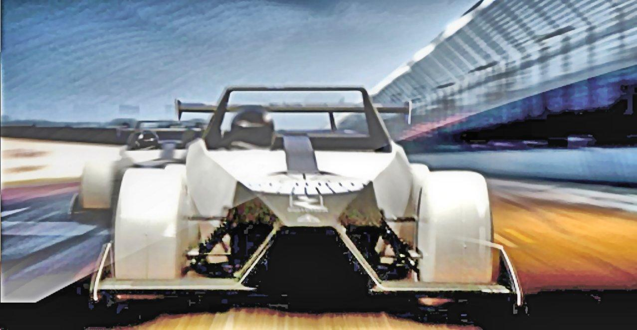Front view of the iRACER on the test track (Photo: Westfield Sportscars)