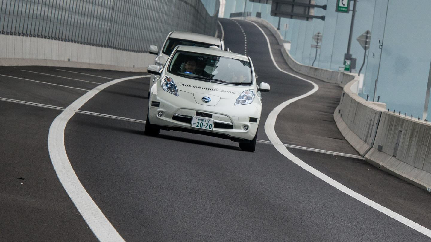 Nissan's Autonomous Drive Leaf hits the public highway for the first time