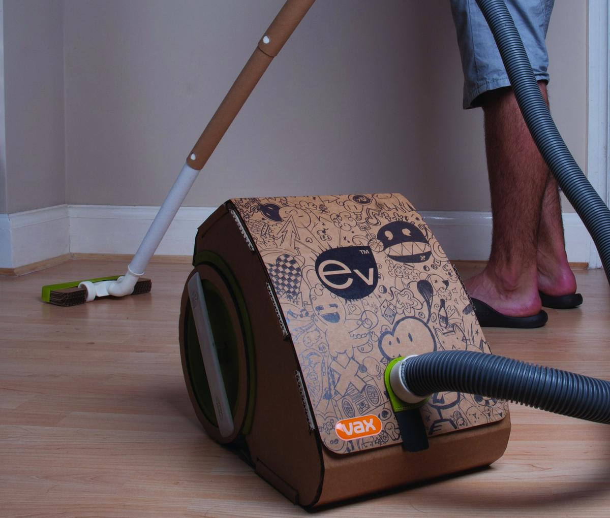 Industrial designer Jake Tyler has spent the last 12 months at the Worcestershire headquarters of Vax, developing a vacuum cleaner made from cardboard for his final year degree project