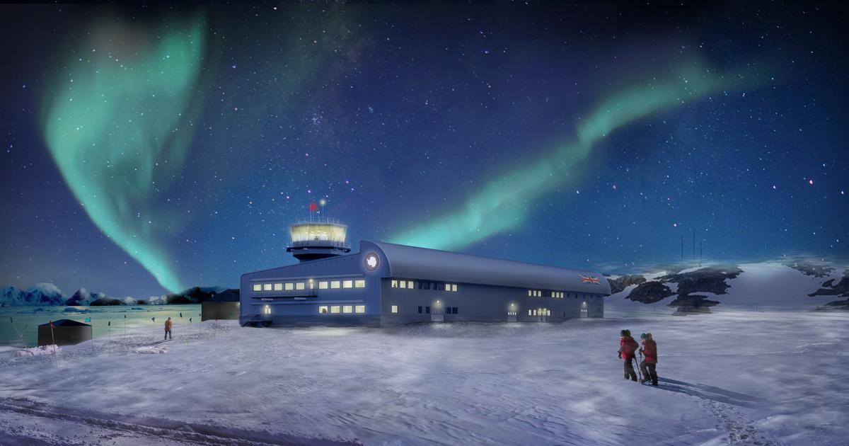 Construction of aerodynamic Antarctic research building begins