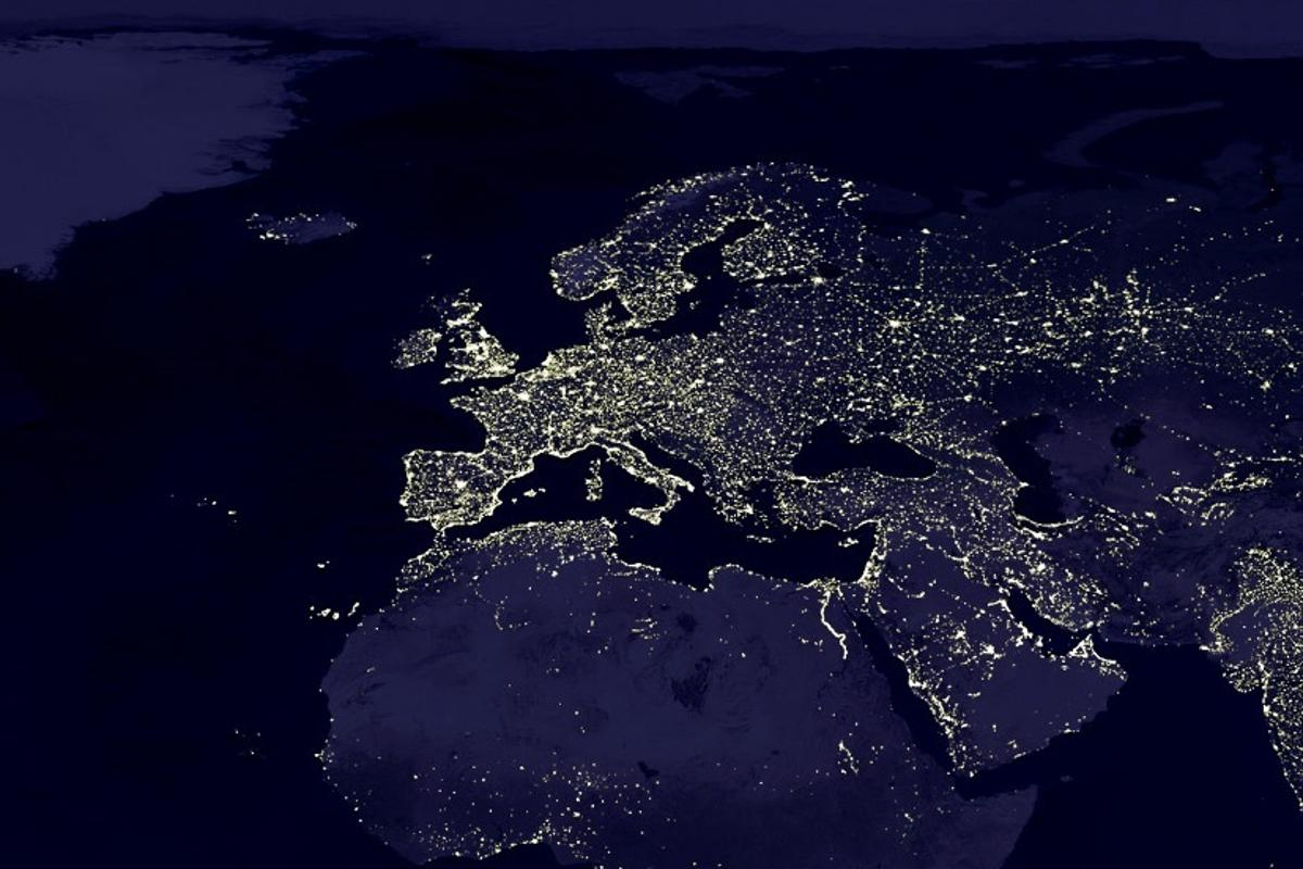The Earth's lights from space (Image: NASA)