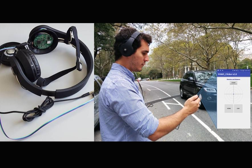 The prototype headphones are presently being tested on the streets of New York City