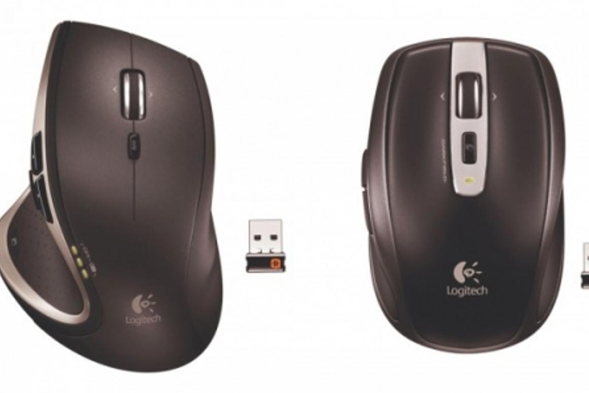 The Logitech Performance Mouse MX and Logitech Anywhere Mouse MX