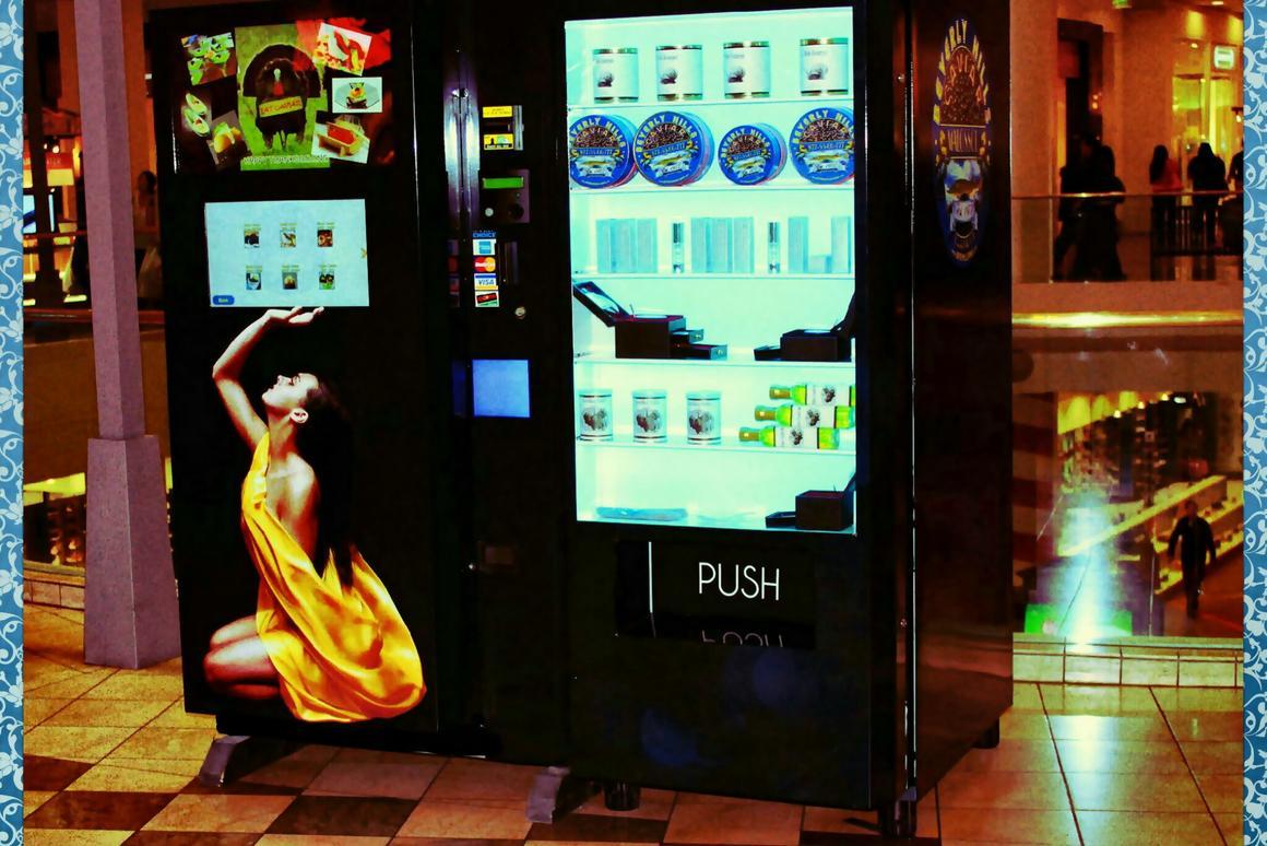 Gourmet vending machine dispenses fresh caviar and escargot