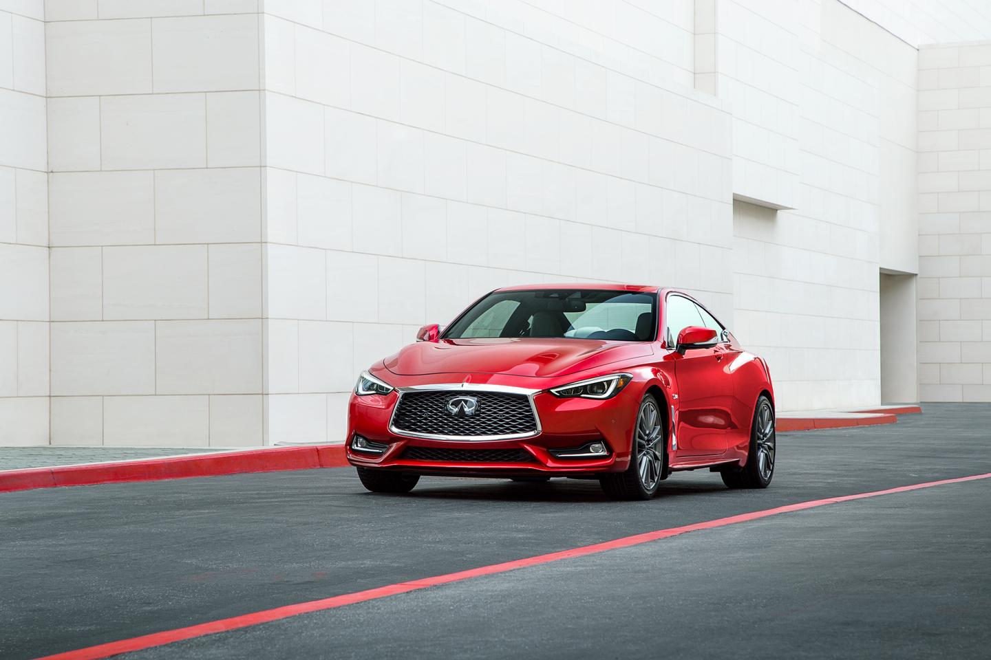 The 2017 Q60 will have three engine options, a turbocharged four-cylinder, a turbocharged V6, and a twin-turbocharged V6
