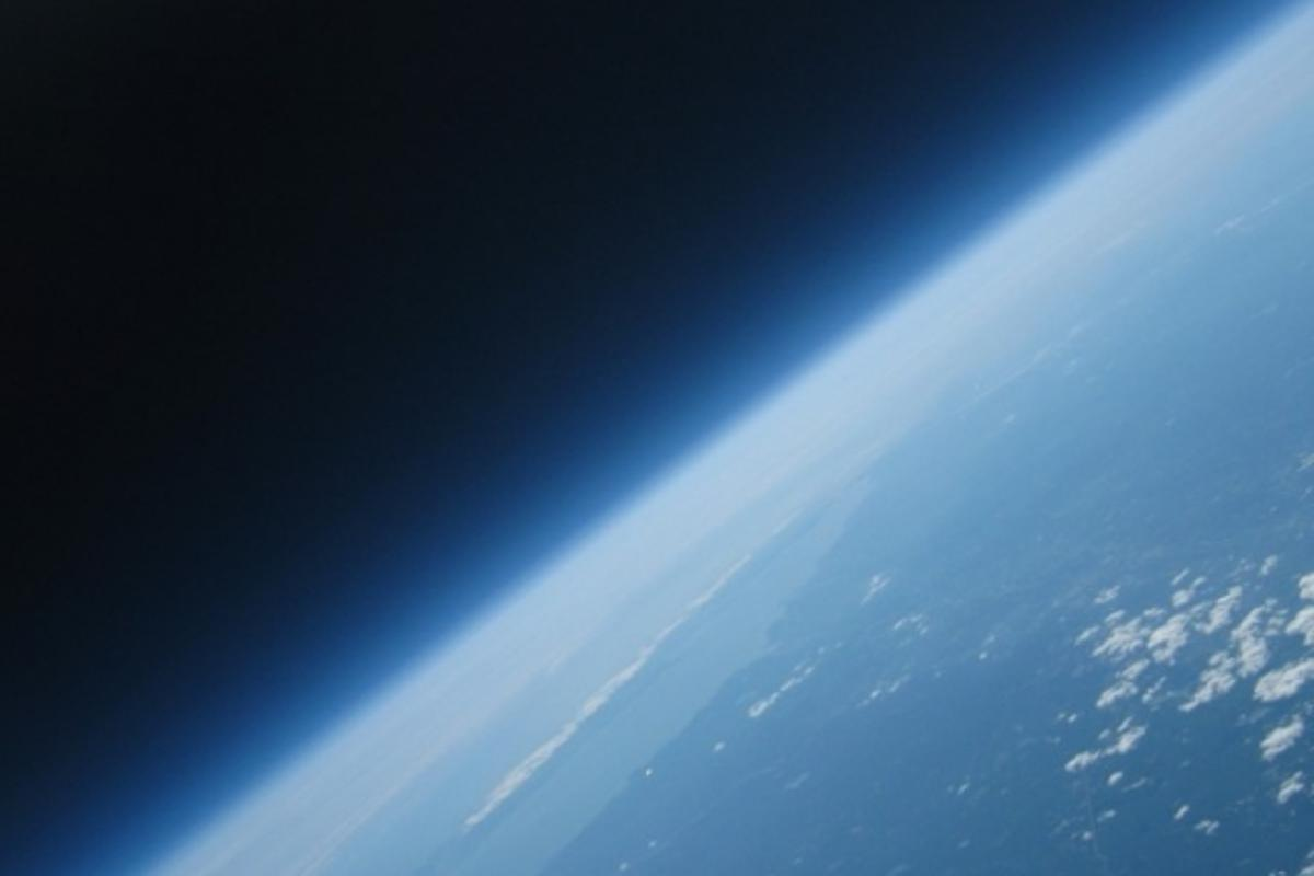 The Earth as seen from probably the cheapest balloon photography setup ever