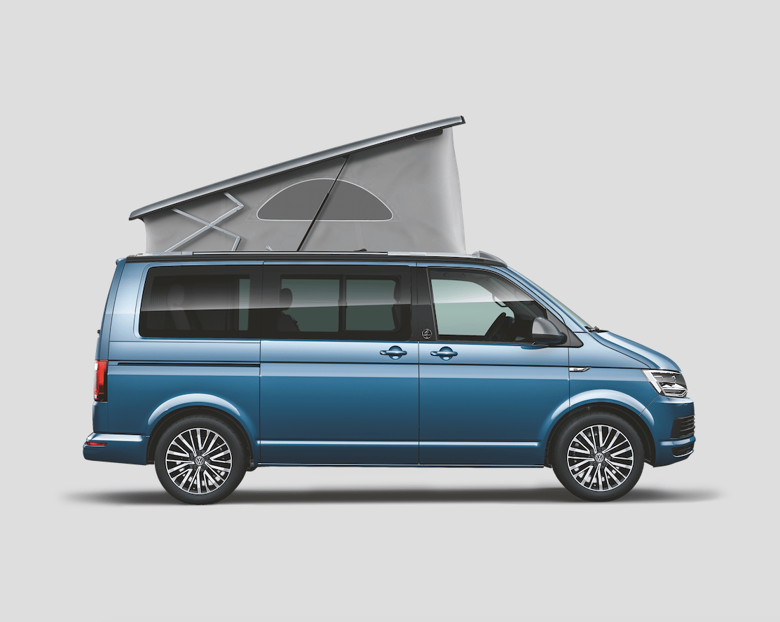 The VW California 30 Years rides on 17-in high-sheen alloy wheels