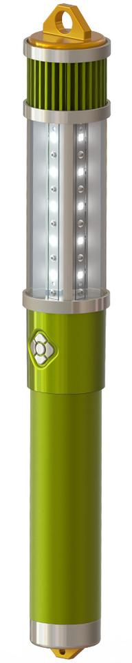 The Zyntony Torch is made of aircraft-grade aluminum in a shape similar to that of a flashlight