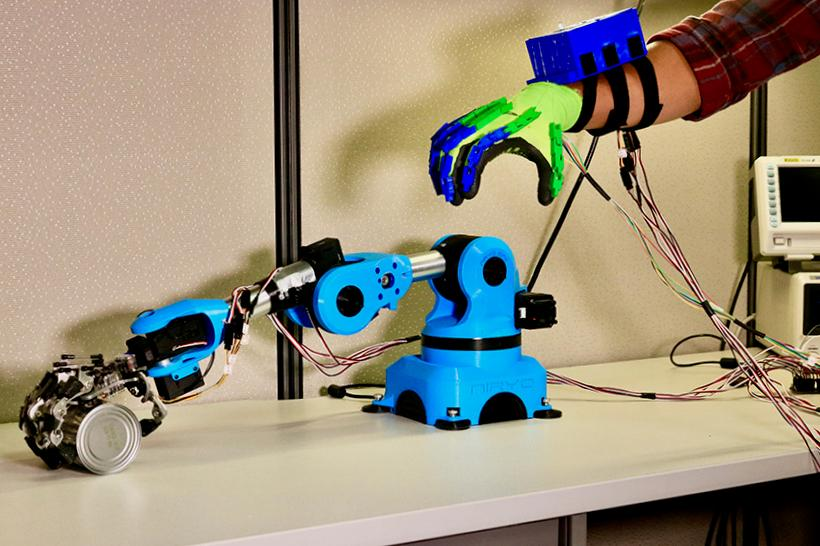 The system allows a human operator to feel how close a robotic gripper's fingers are getting to delicate biological tissue