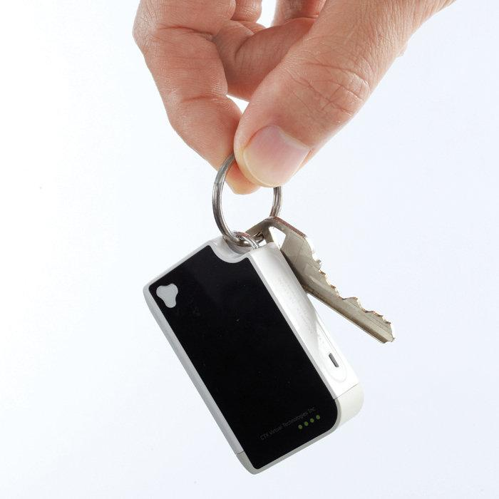 The Virtual Keyboard is about the size of a Zippo lighter and can be carried easily in your pocket with your keys