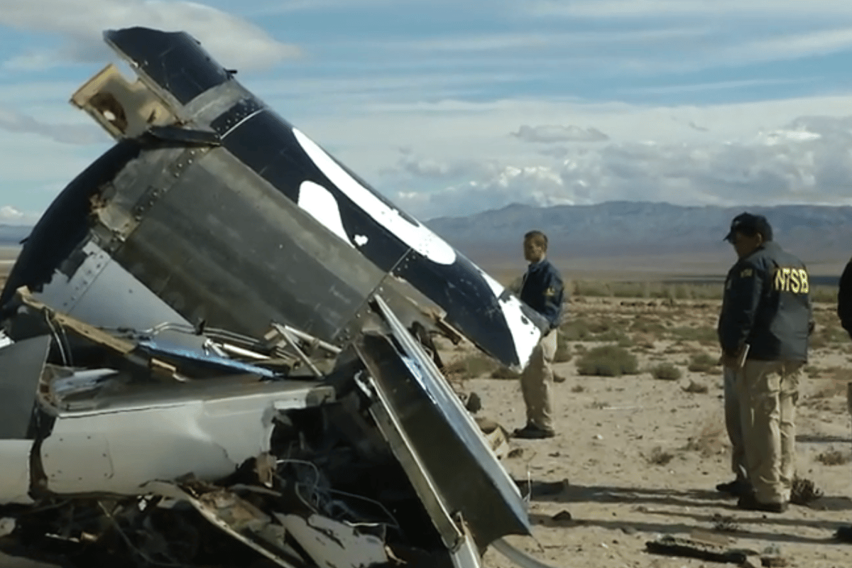 Will the crash of SpaceShipTwo put and end to space tourism before it begins? (Image: NTSB)