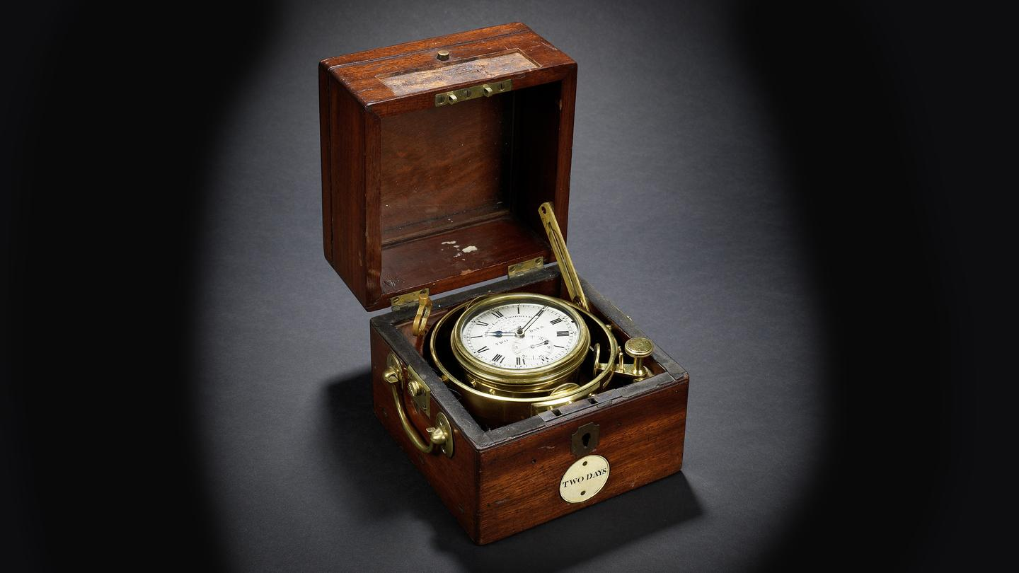 The marine chronometer heading for the auction block on July 9 has certainly witnessed its fair share of history