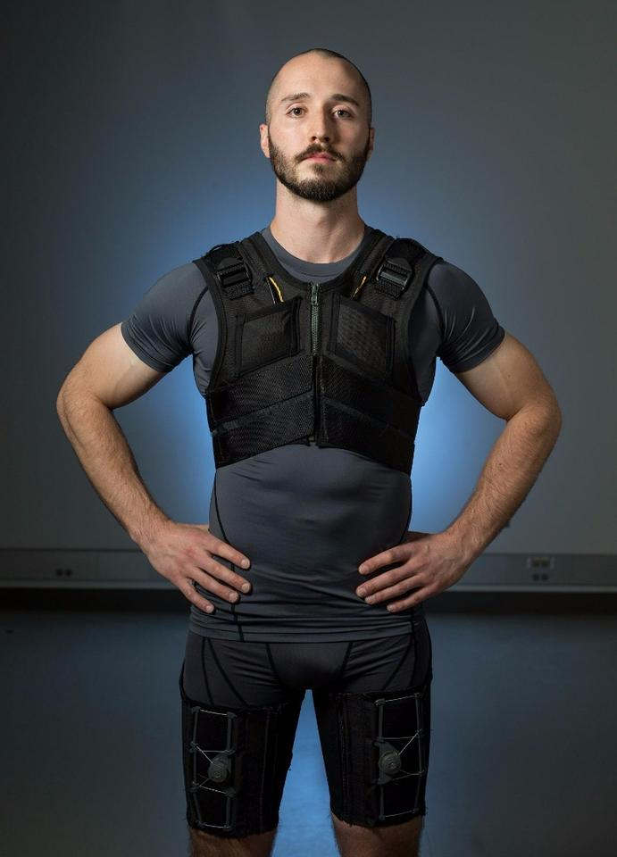 The outfit isn't designed to treat back injuries, but to keep them from occurring in the first place